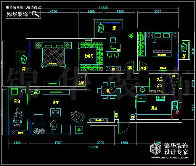 德基紫金南苑114平米户型解析-装修设计方案-南京