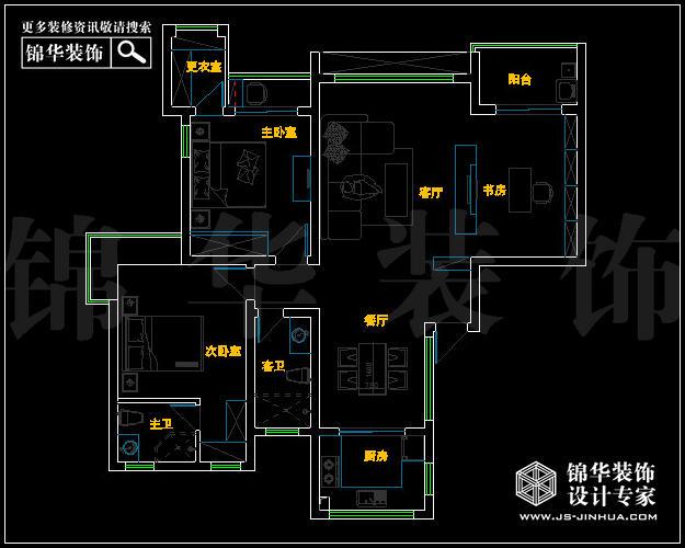 翠屏紫气钟山126平米户型解析-装修设计方案-南京