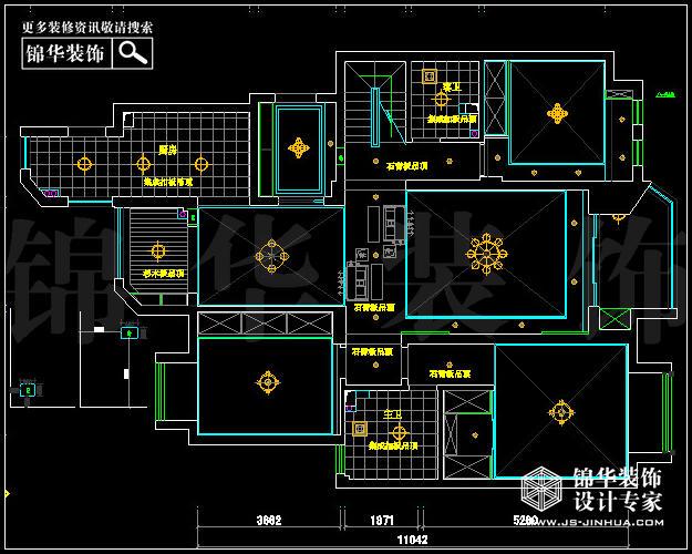 保利紫晶山a户型142平米顶楼-装修设计方案-南京锦华