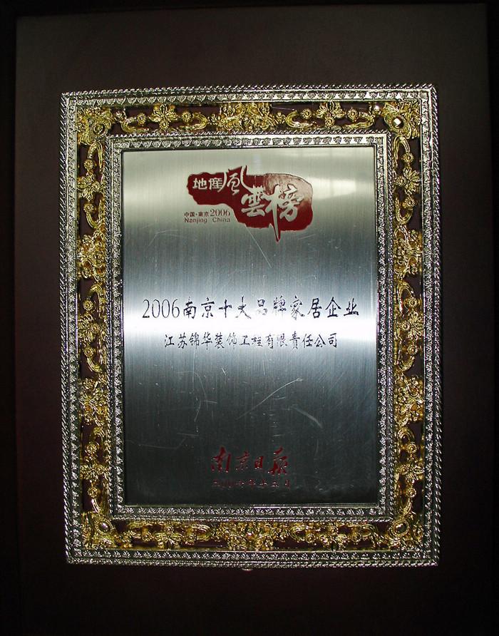 南京十大品牌家居企业