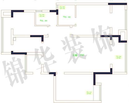 江阴院子140平方米h户型-装修设计方案-江阴锦华装饰