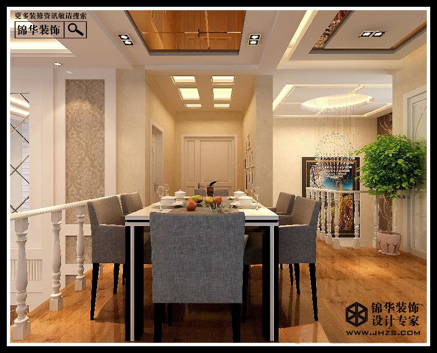 溧阳时代景城顶楼跃层复式现代风格装修效果图