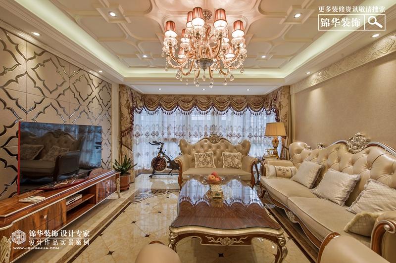 天山绿洲 实景作品 欧式风格装修-三室两厅-欧式古典