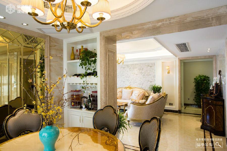 岛府160㎡ 欧式风格装修 三室两厅 欧式古典 湖州锦华装饰