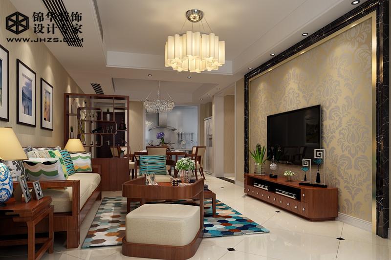 江阴院子复式楼新中式风格效果图图片