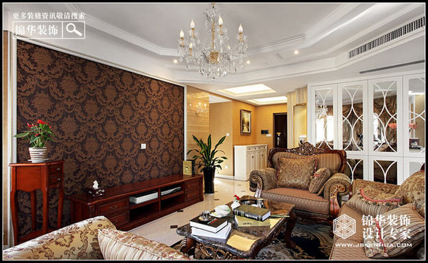 银河湾福苑装修-三室两厅-欧式古典