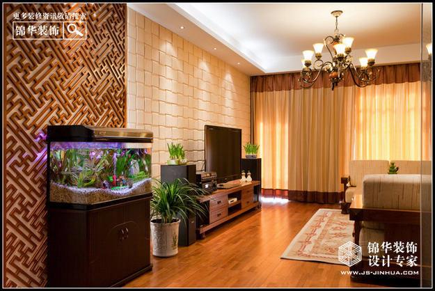 奥体新城海棠园装修-三室两厅-新中式