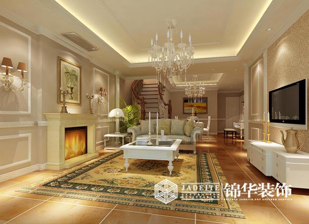 万科世纪简欧风格三室两厅效果图