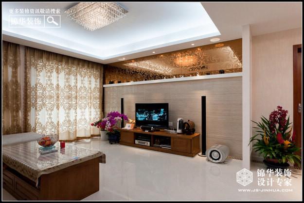 品味人生-秦淮绿洲装修-三室两厅-现代简约