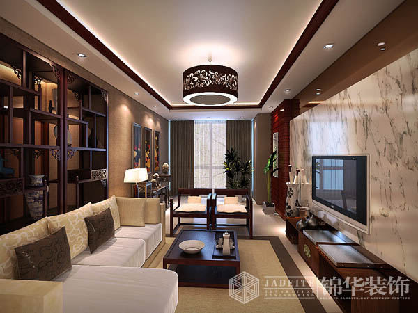 福缘国际装修-三室两厅-新中式