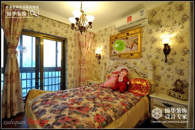 中海凯旋门装修-三室一厅-美式田园