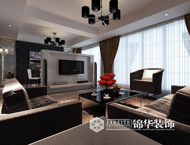 江阴水岸新都简约风格三室两厅效果图 装修-三室两厅-现代简约