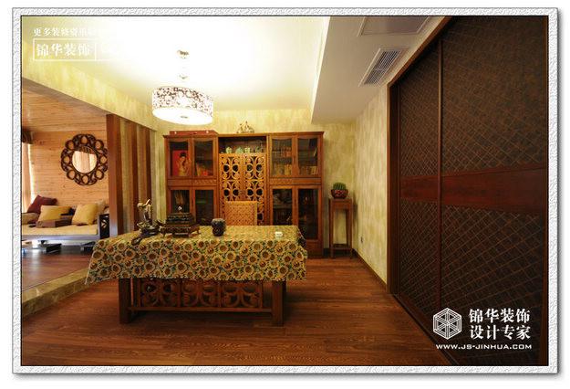 紫金南苑装修-三室两厅-东南亚