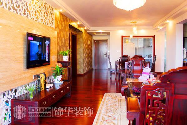 同悦容园装修-三室两厅-新中式