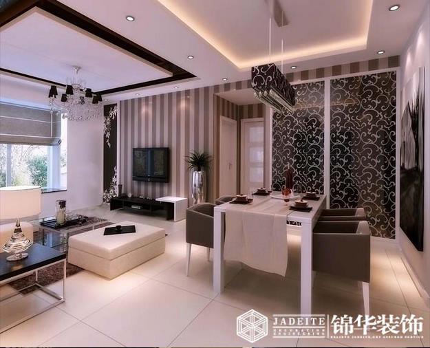 太湖国际样板房简约风格三室两厅效果图 装修-三室两厅-现代简约