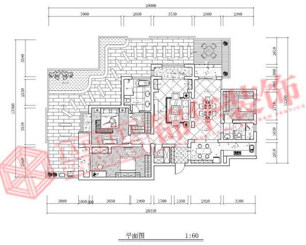 金域缇香简约风格三室两厅效果图 装修-三室两厅-现代简约