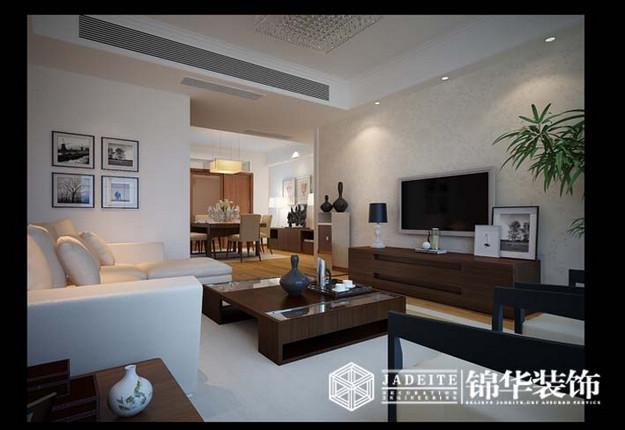 时代上城简约风格三室两厅效果图 装修-三室两厅-现代简约