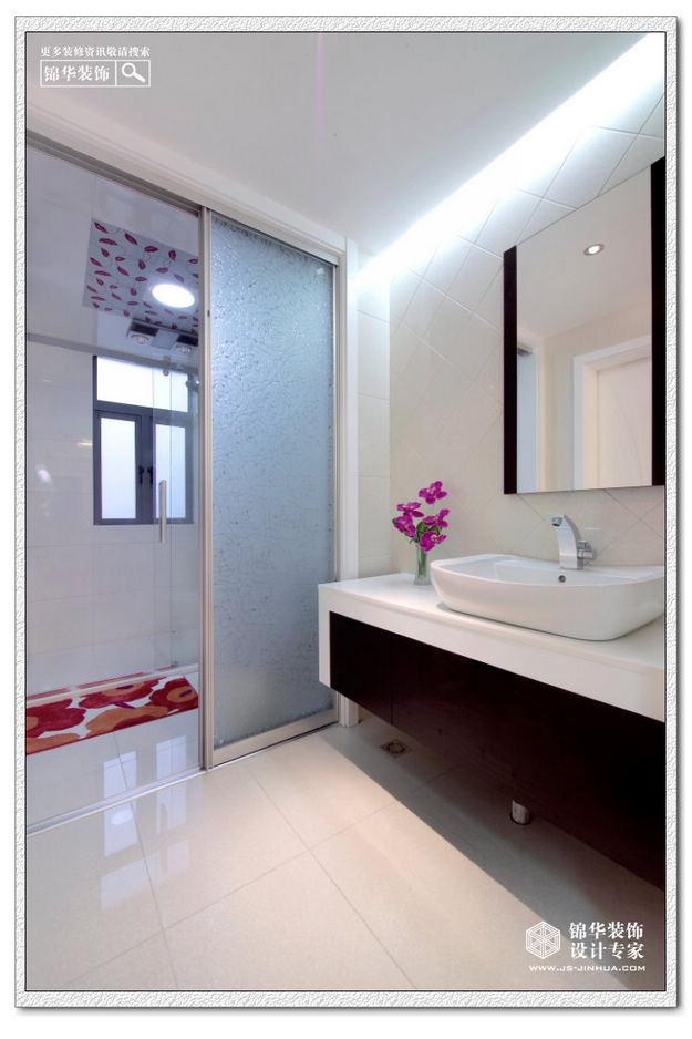长型洗手间装修效果图