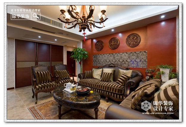 中西合璧-融侨中央花园装修-三室两厅-欧式古典