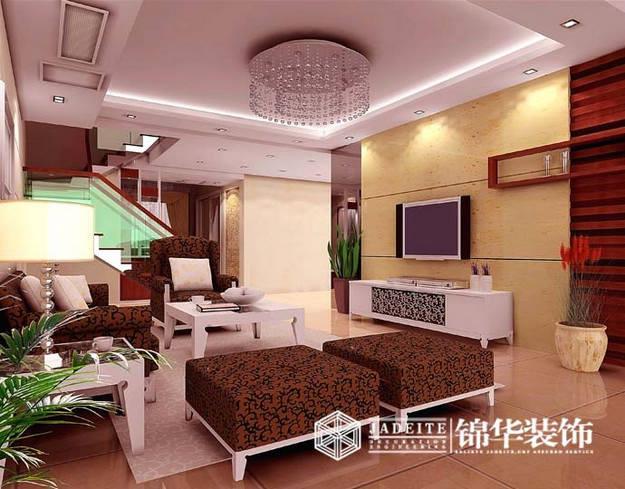 梁湖简约风格三室两厅效果图 装修-三室两厅-现代简约