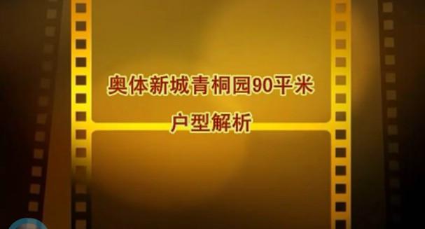 奥体新城青桐园90平米视频户型解析