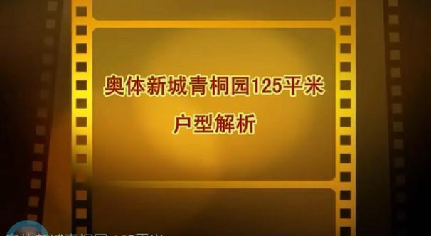 奥体新城青桐园125平米视频户型解析