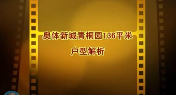 奥体新城青桐园136平米视频户型解析