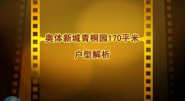 奥体新城青桐园170平米视频户型解析