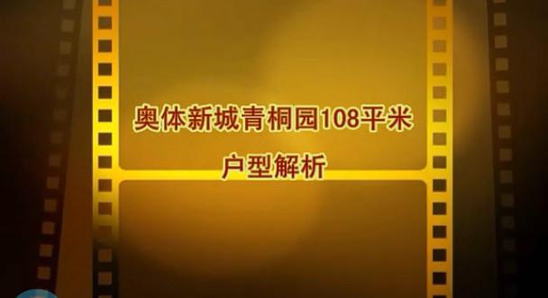 奥体新城青桐园108平米视频户型解析