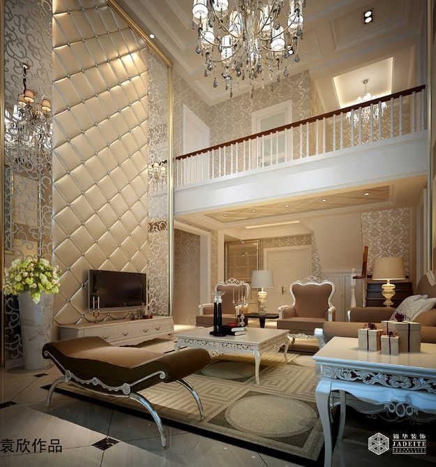 朴园复式楼装修-跃层复式-欧式古典