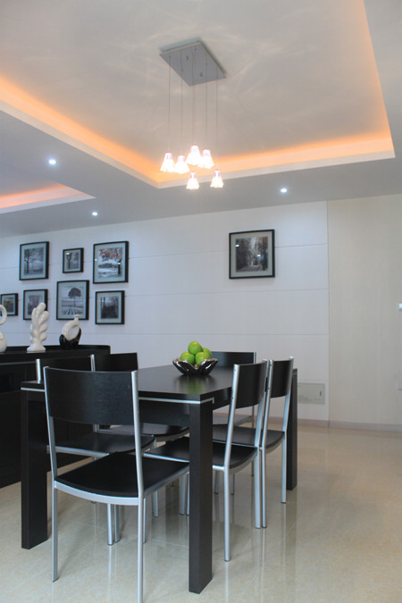 现代简约黑白灰色调装修-三室两厅-现代简约