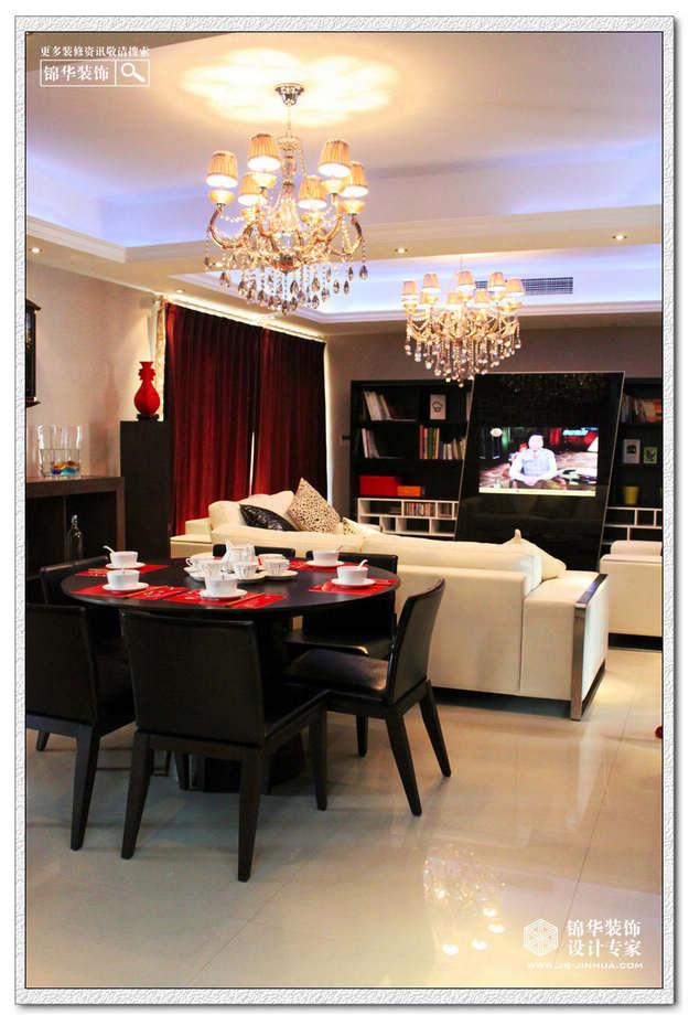 中海塞纳丽装修 三室两厅装修效果图 现代简约风格