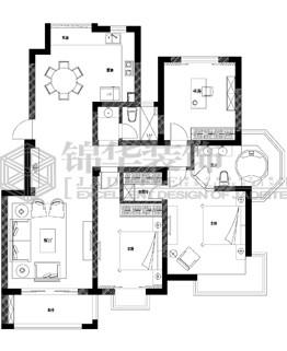 优山美地装修-三室两厅-简欧