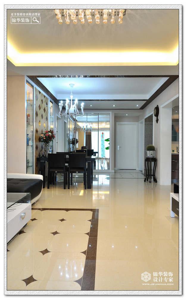 鑫园--几何的旋律装修-三室两厅-现代简约