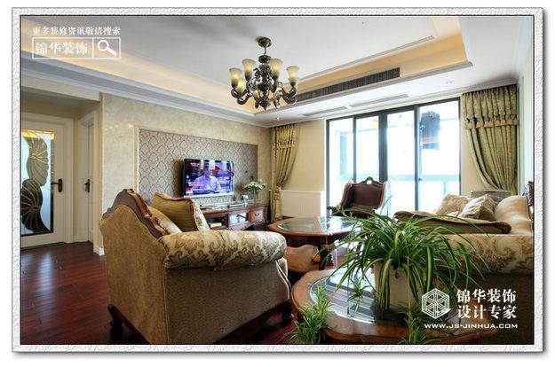 融侨中央花园装修-三室两厅装修效果图-简欧风格