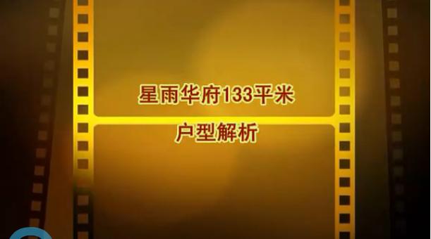 星雨華府133平米視頻戶型解析