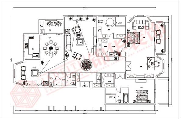 奥林匹克花园装修-三室两厅-简欧