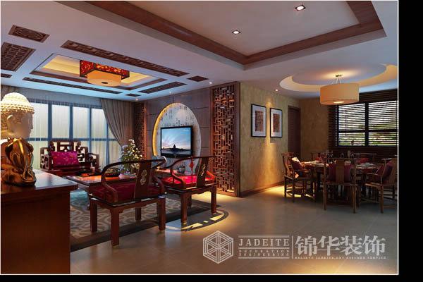 天正湖滨装修-三室两厅-新中式