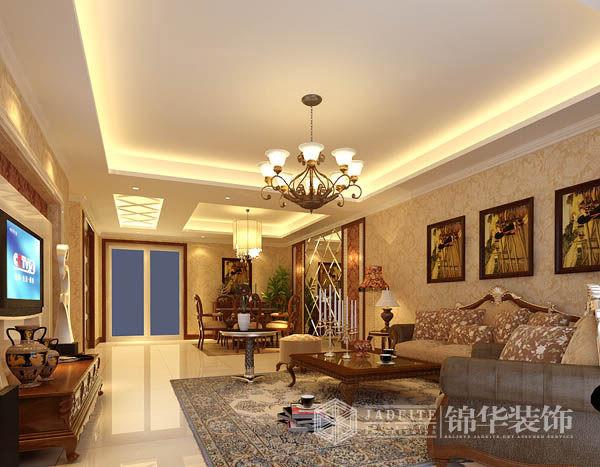 雅居乐花园2装修-三室两厅装修效果图-欧式古典风格