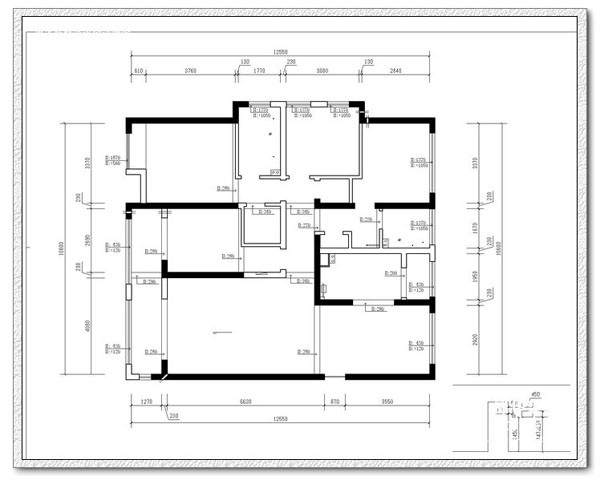 酒店房间布局结构图