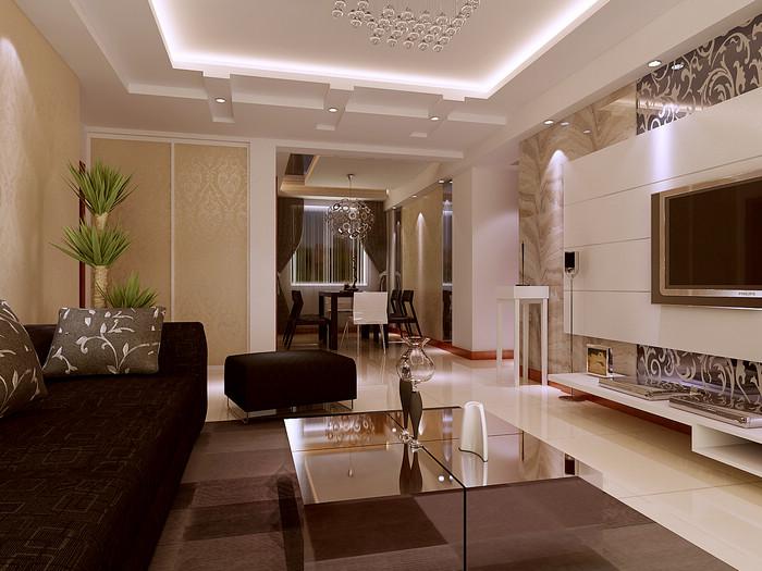 时尚 装修-三室两厅-现代简约