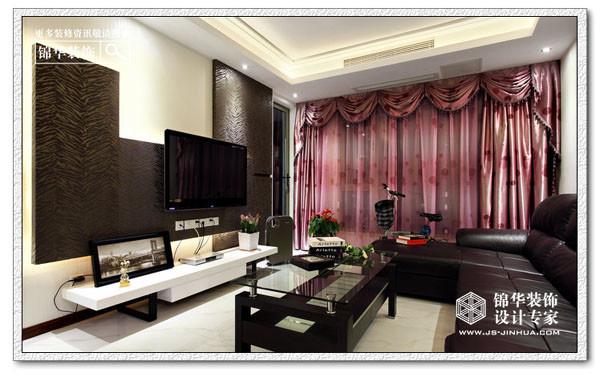不对称美学-宋都美域装修-两室两厅-现代简约
