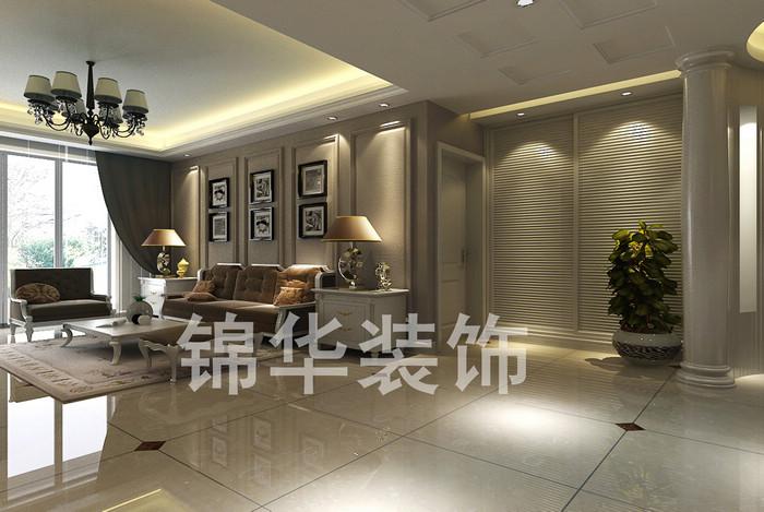 客厅-装修图片-扬州锦华装饰
