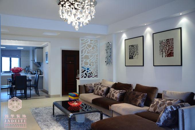 黑白现代(最新)装修-三室两厅-现代简约