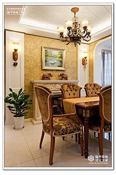 天正湖滨装修 三室两厅装修效果图 简欧风格 南京锦华装饰