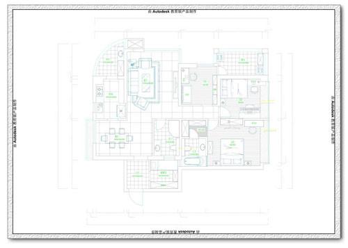 后现代的完美演绎-星雨华府装修-三室两厅-新古典