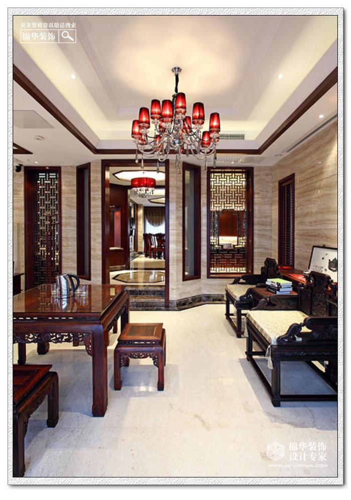 扬州西郊别墅装修-别墅图片大全-新中式风格