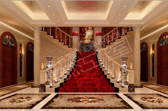 威尼斯花园900平欧式风格别墅效果图装修-别墅图片