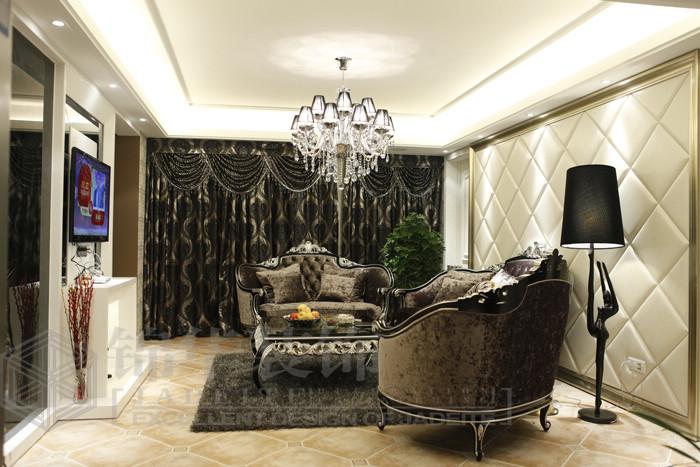 如东绿城玉兰公寓装修-三室两厅-简欧