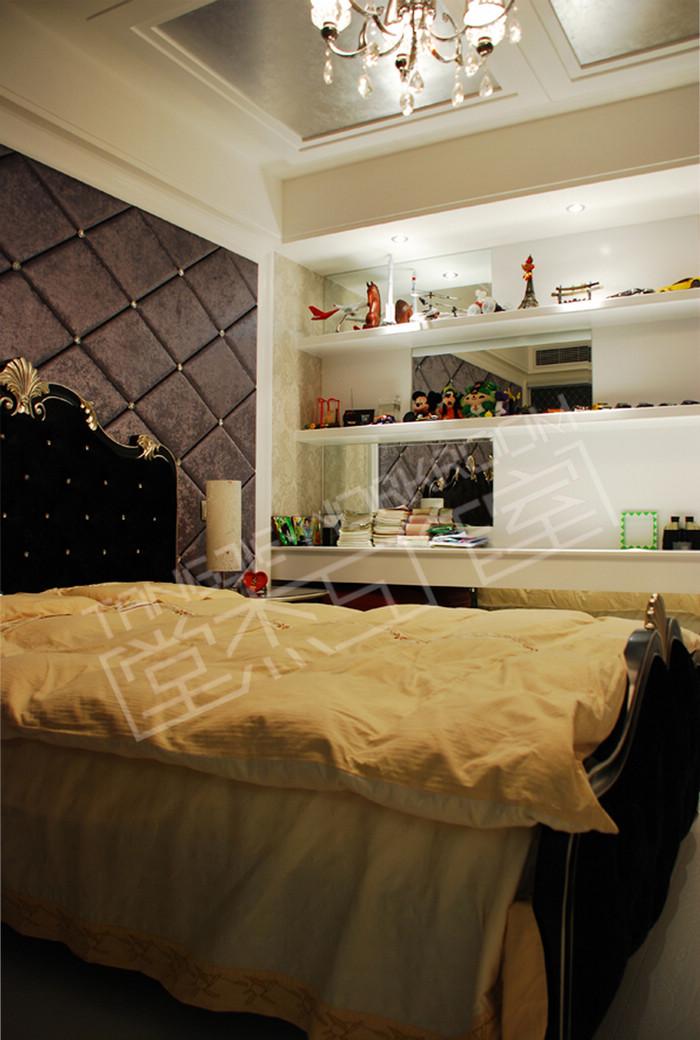 金太湖103平后奢华新古典简欧风格实景样板间装修-两室两厅-简欧